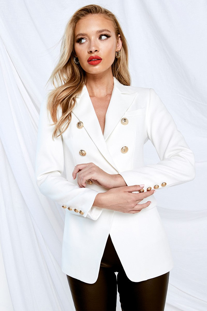 MOSSMAN The Signature Blazer WHITE