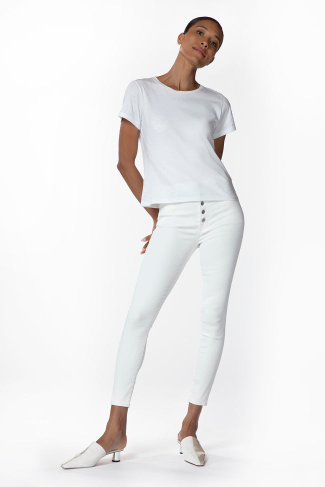 J BRAND Lillie Highrise Crop Skinny COATED BUBBLE
