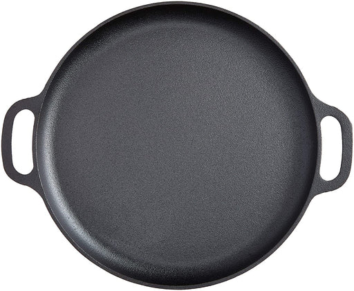 "14"" Cast Iron Pizza Pan-Skillet for Cooking, Baking, Grilling"