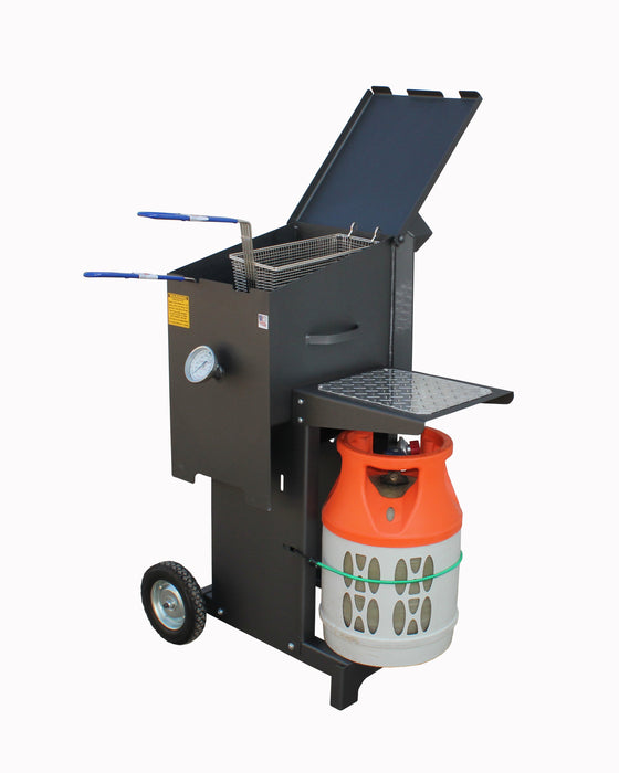 Cajun Fryer 6 Gallon Propane Gas Deep Fryer With Stand And 2 Baskets