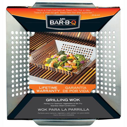 Mr. BBQ Stainless Steel Grilling Wok