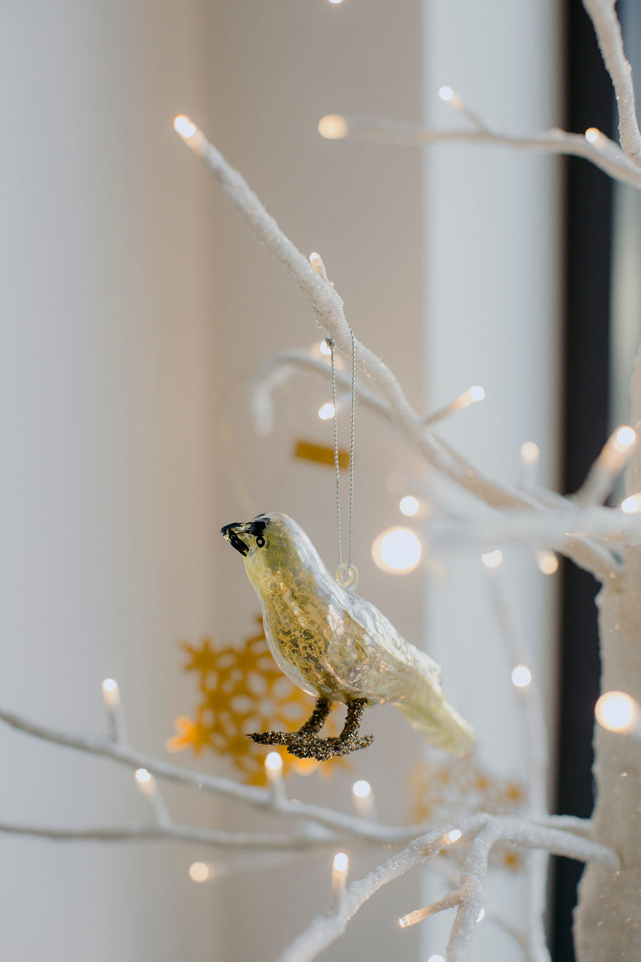 Blown Glass Bird Ornament