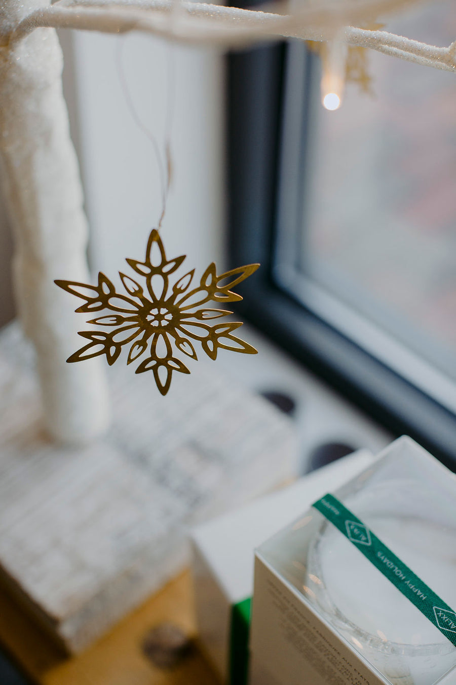 Brass Snowflake Ornaments
