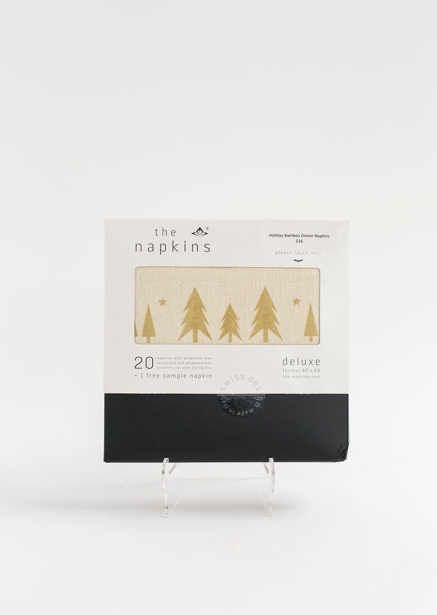 Holiday Bamboo Blend Single Use Dinner Napkins