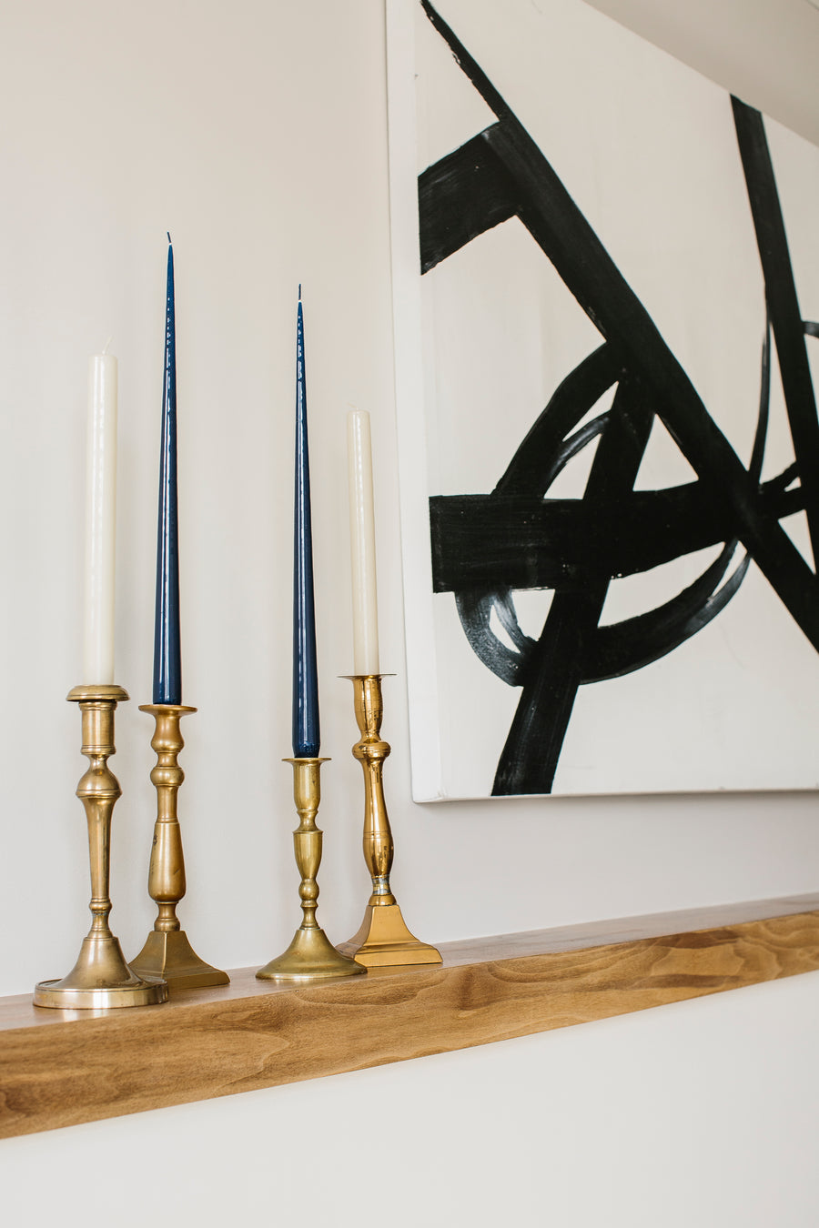 Brass Candle Sticks, Set of 4