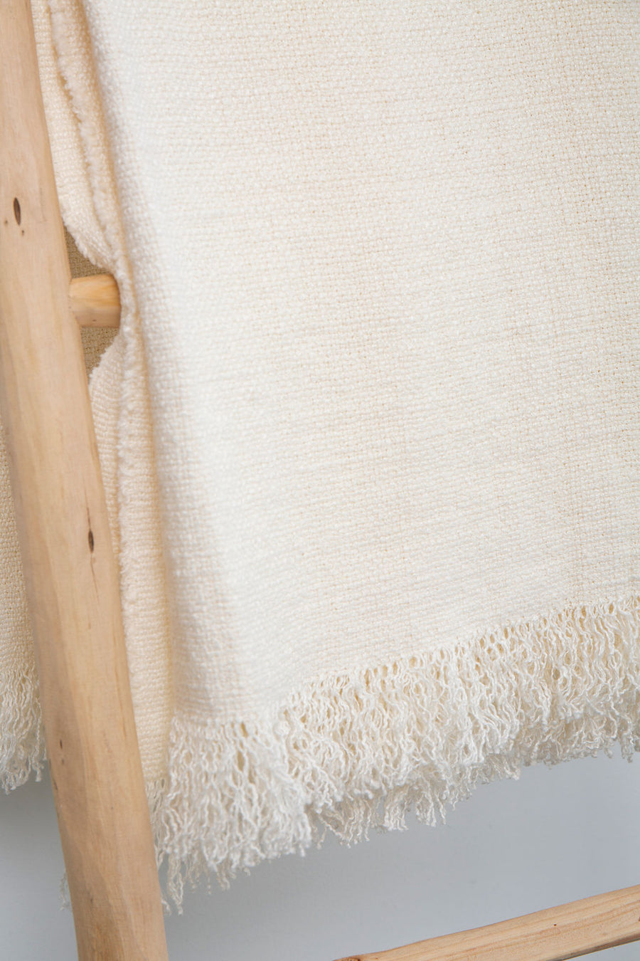 White Belgian Woven Throw