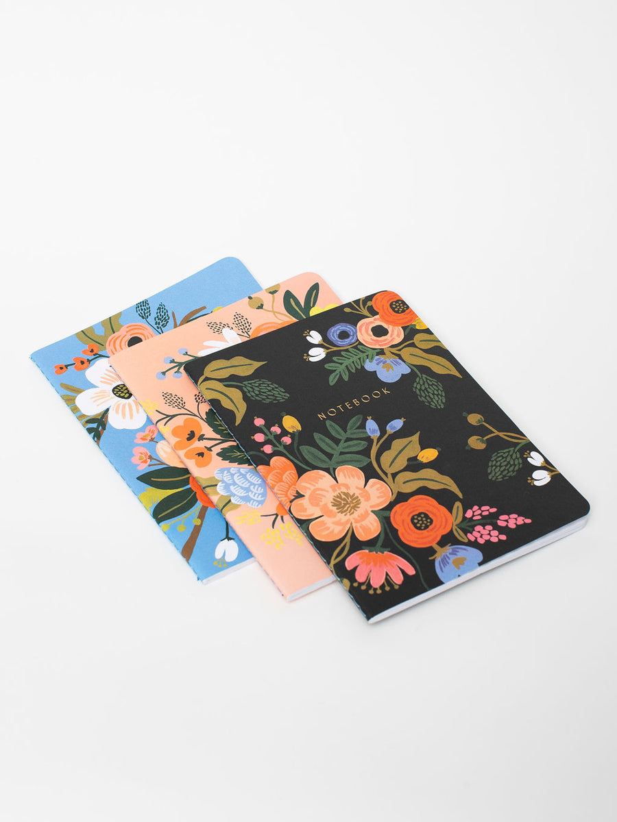 Rifle Paper Co. Lively Floral Journals, set of 3