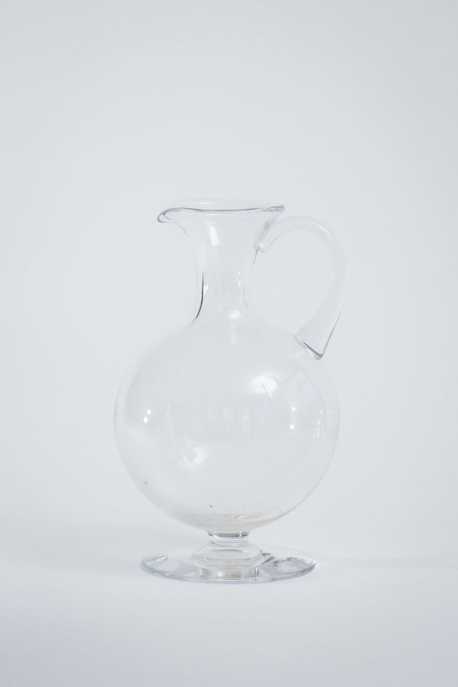 1930's Mouth Blown Glass Pitcher
