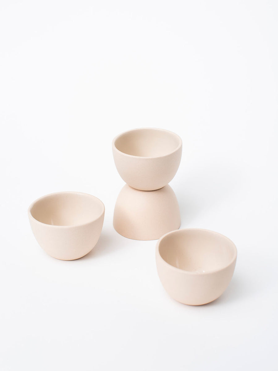 Blush Stacking Thimble Pot — Set of 4