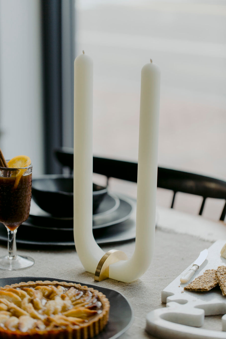 U-Candle with Brass Holder