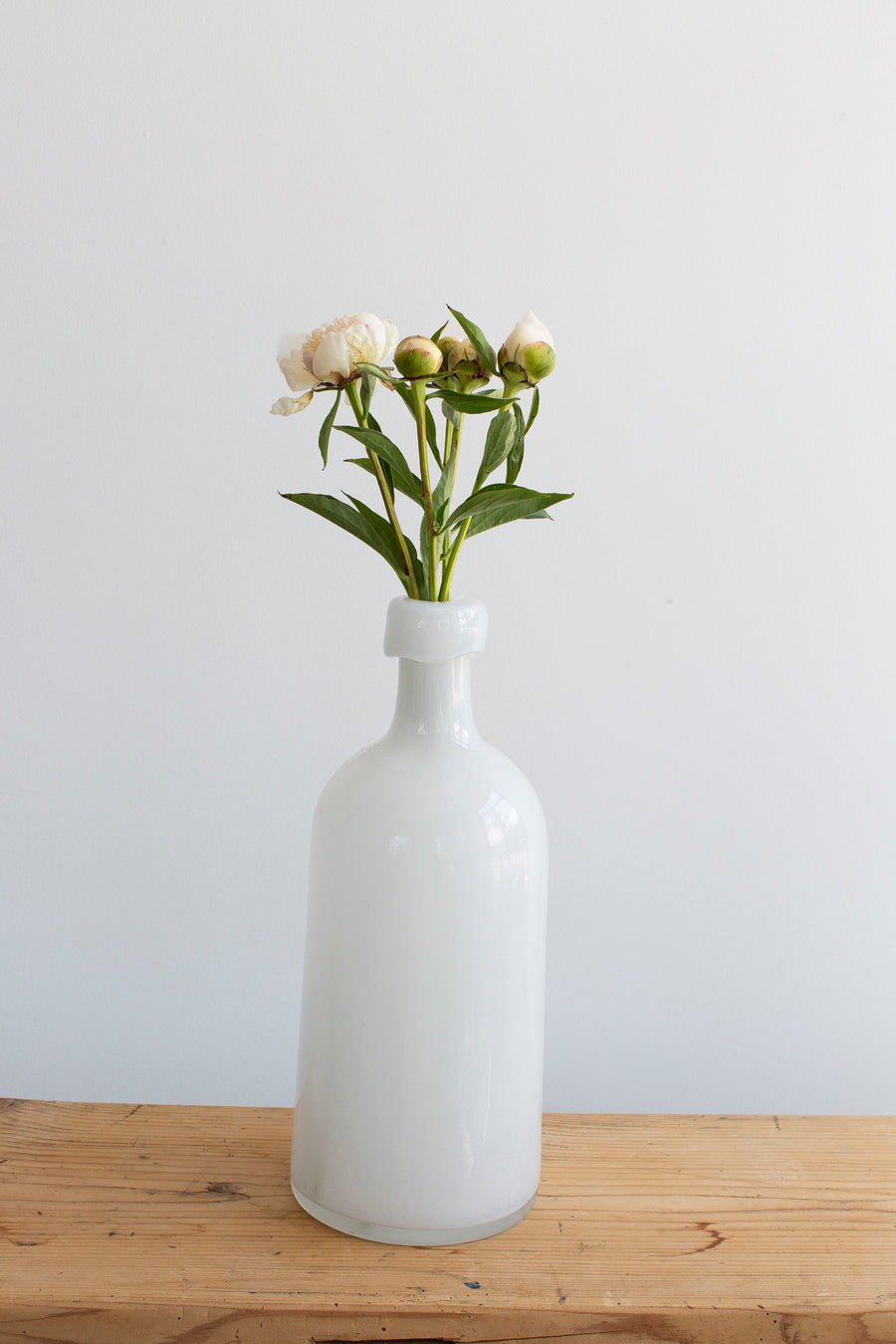 Hand Blown Vase - White