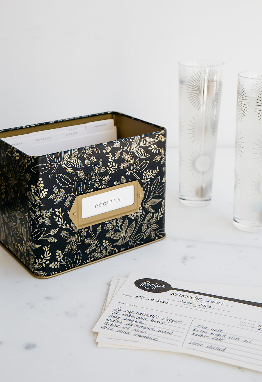 Rifle Paper Co. Queen Anne Recipe Box