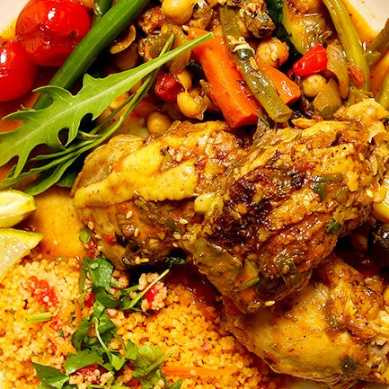 A traditional Moroccan chicken stew