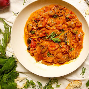 Load image into Gallery viewer, Mushroom & Mixed Vegetable Stroganoff (v/gf)