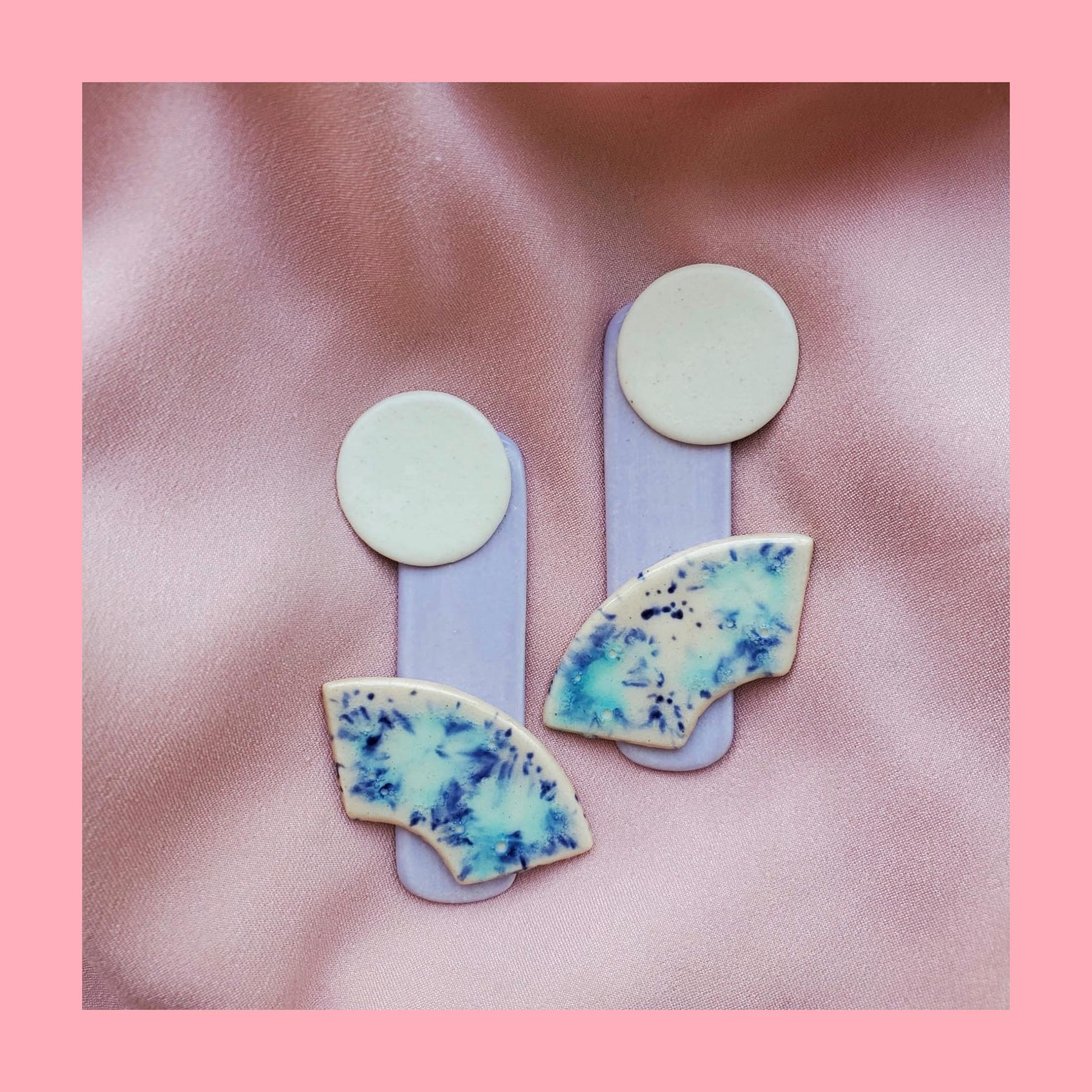 Ceramic Abstractions Earrings (Space Candy Edition)