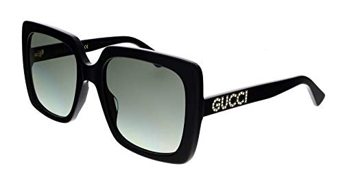 Gucci GG0418S Black/Crystal/Grey Gradient One Size - Current Trend Sales