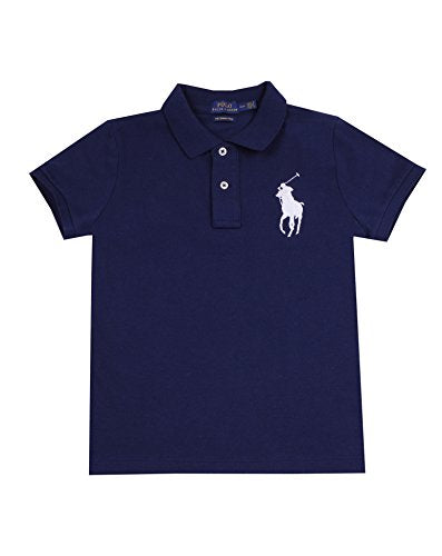 Polo Ralph Lauren Womens Big Pony Polo (Meduim, Navy white Pony) - Current Trend Sales