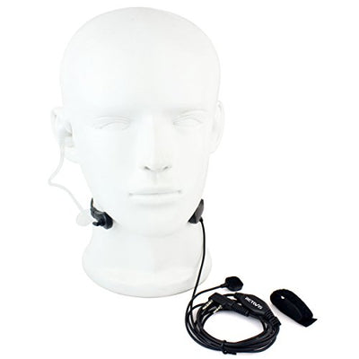 Retevis 2 Pin Throat Mic Covert Acoustic Tube Earpiece with PTT for Baofeng UV-5R BF-888S Retevis H-777 RT22 RT21 RT7 RT27 RT18 Walkie Talkies(1 Pack) - Current Trend Sales