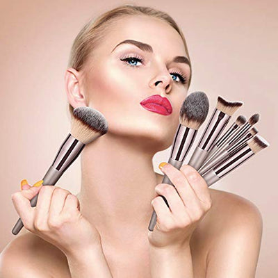 20 PCs Makeup Brushes Premium Synthetic - Current Trend Sales