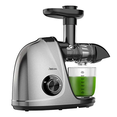 Juicer Machines, Jocuu Slow Masticating Juicer Extractor, Cold Press Juicer Easy to Clean, Quiet Motor, Reverse Function, with Brush and Recipes, for Fruits and Vegtables - Current Trend Sales