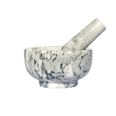 Kota Japan Marble Mortar & Pestle Stone Grinder for Spices, Seasonings, Pastes, Pestos and Guacamole - Current Trend Sales