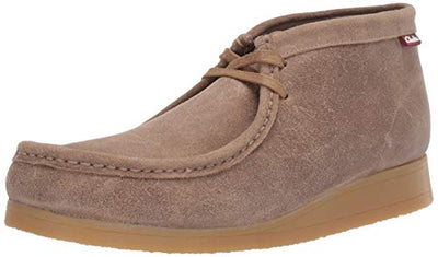 Clarks Men's Stinson Hi Fashion Boot, Taupe Distressed Suede, 8 M US - Current Trend Sales