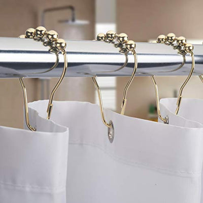 Shower Curtain Hooks Rings, Rust-Resistant Set of 12-Gold - Current Trend Sales