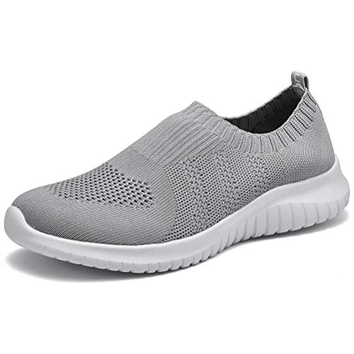 Women's Walking Tennis Shoes -  Athletic Casual Gym Slip on Sneakers