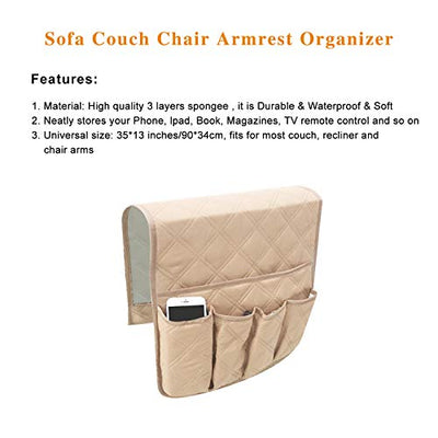 Sofa Armrest Organizer, Cotton - Current Trend Sales