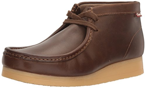 Clarks Men's Stinson Hi Chukka Boot,Beeswax Leather,9 M US