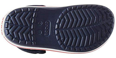 Crocs  Slip On Shoes for Boys and Girls , Navy/Red, J1 US Little Kid - Current Trend Sales