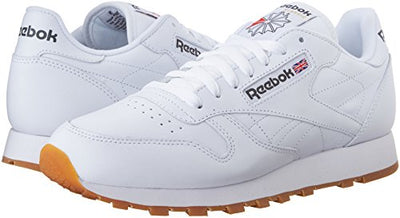 Reebok Men's Classic Leather Casual Sneakers, White/Gum, 12 M US - Current Trend Sales