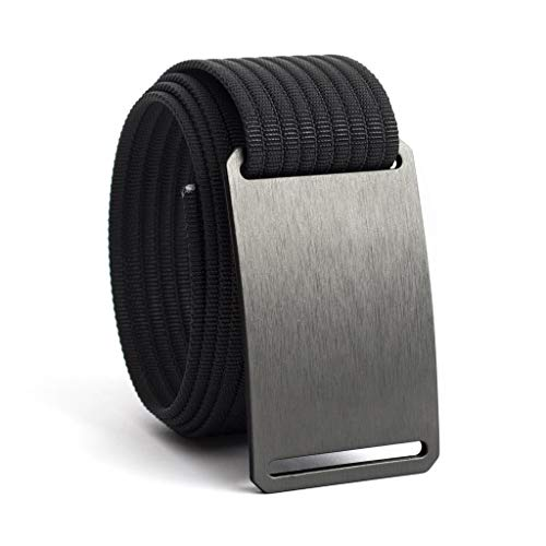36 Inch Gunmetal Casual Web Belts For Men | Grey Buckle - Current Trend Sales