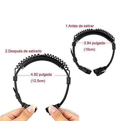 Retevis 2 Pin Throat Mic Walkie Talkie Earpiece Covert Acoustic Tube Finger PTT Headset for Baofeng UV-5R BF-888S Retevis RT22 2 Way Radio (1 Pack) - Current Trend Sales