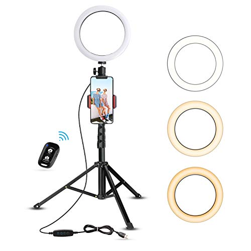 "8"" Selfie Ring Light with Tripod Stand & Cell Phone Holder - Current Trend Sales"