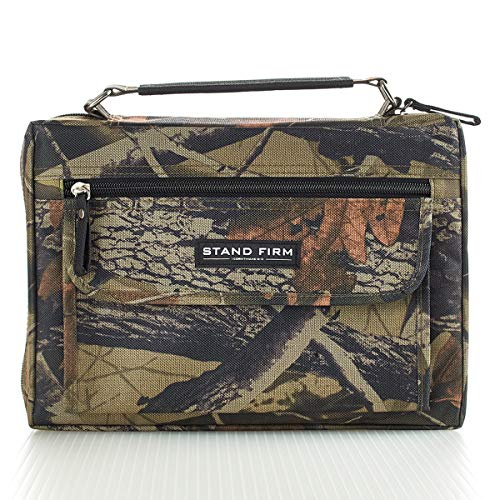 "Mossy Oak Camo Poly-Canvas Bible / Book Cover w/""Stand Firm"" Tag - 1 Corinthians 16:13 (Medium)"