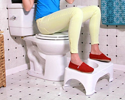 "Step and Go Toilet Stool 7"" New - Proper Toilet Posture for Better and Healthier Results - Current Trend Sales"