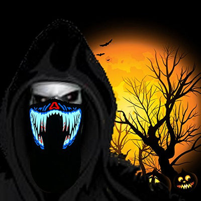 Halloween Mask led mask Scary Mask Light up Mask Festival Party (Blood Teeth) - Current Trend Sales