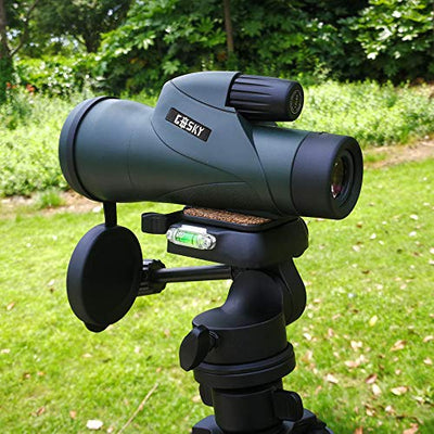 Gosky 12x55 High Definition Monocular Telescope and Quick Smartphone Holder - 2019 Newest Waterproof Monocular -BAK4 Prism for Wildlife Bird Watching Hunting Camping Travelling Wildlife Secenery