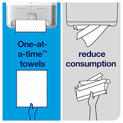 Tork Matic Hand Towel Roll Dispenser with Intuition Sensor 5511202, Elevation Design - Paper Hand Towel Dispenser H1, Non-Contact one-at-a-time Dispensing, White - Current Trend Sales