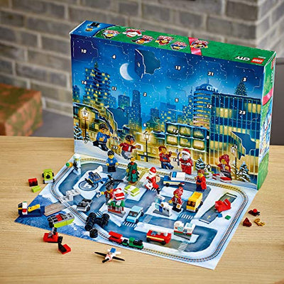LEGO City Advent Calendar 60268 Playset, Includes 6 City Adventures TV Series Characters, Miniature Builds, City Play Mat, and Many More Fun and Festive Features, New 2020 (342 Pieces)