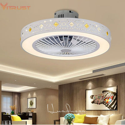 Modern Ceiling Fan Lights Dining Room Bedroom Living remote control Fan Lamps Invisible Ceiling Lights Fan Lighting Small Office