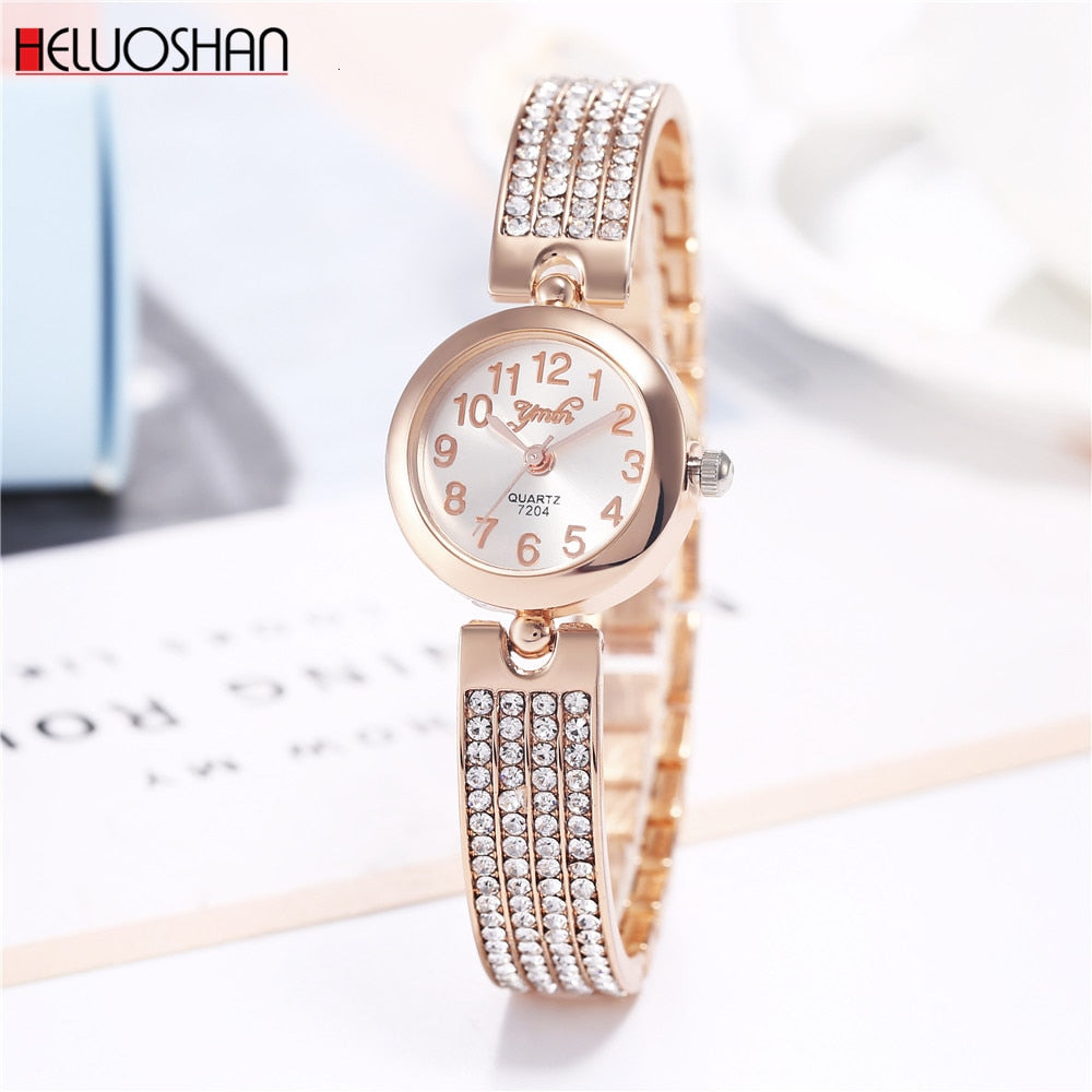 Women Bracelet Watches Luxury Rhinestone Quartz Wristwatches