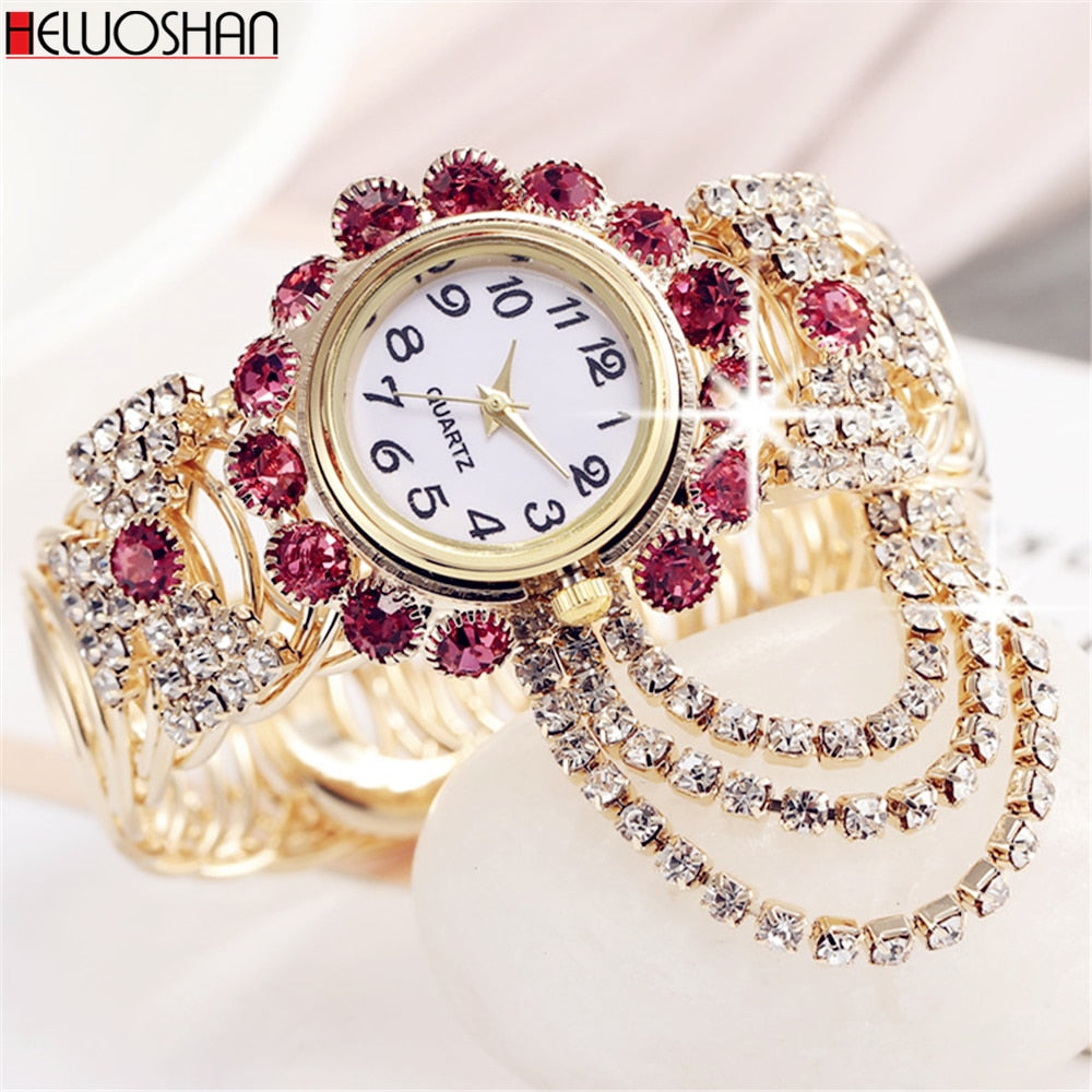 Luxury Rhinestone Bracelet Watch Women Watches Ladies Wristwatch
