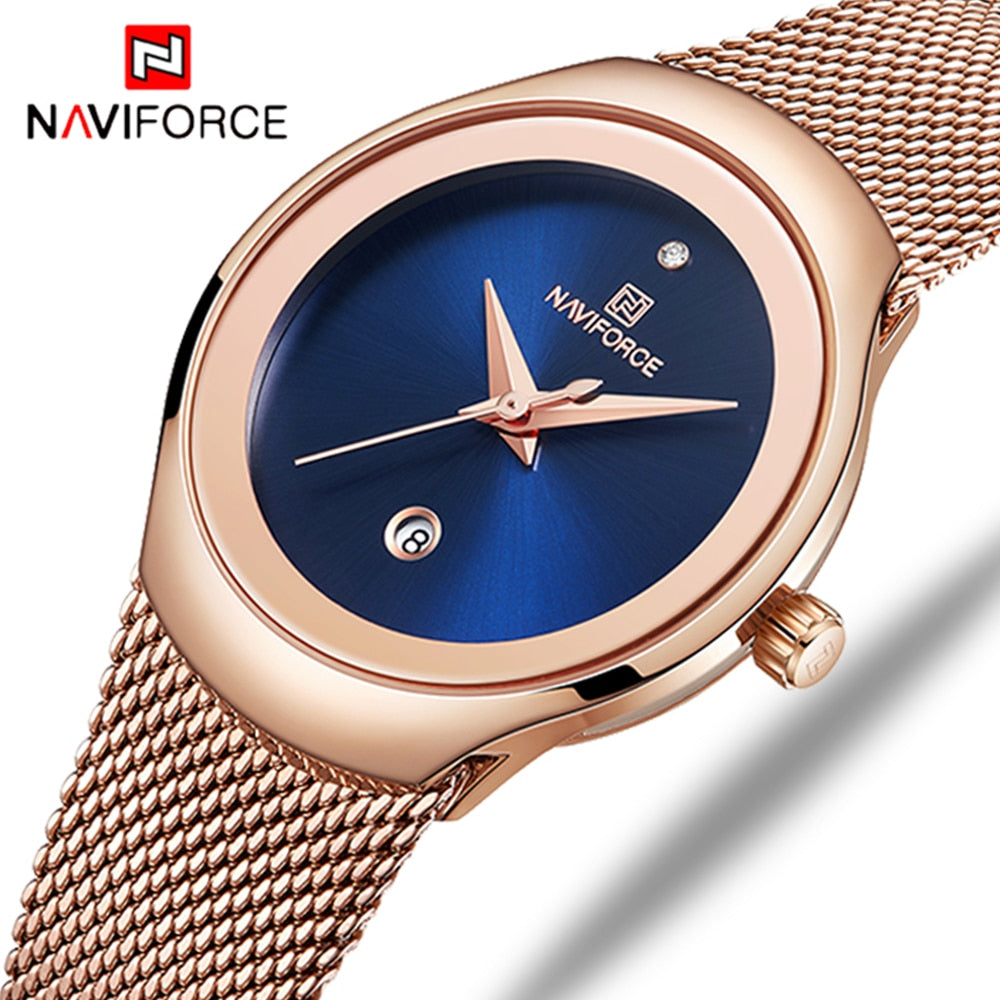 Women Girls Fashion Gold Quartz Watch Lady Casual Waterproof Wristwatch