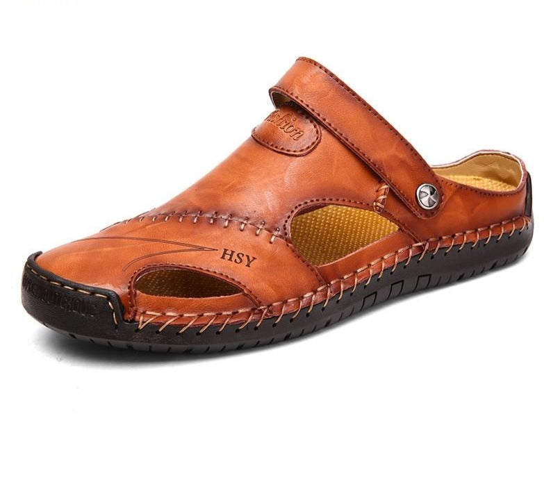Summer Men Leather Sandals 2020 Slipper Outdoor