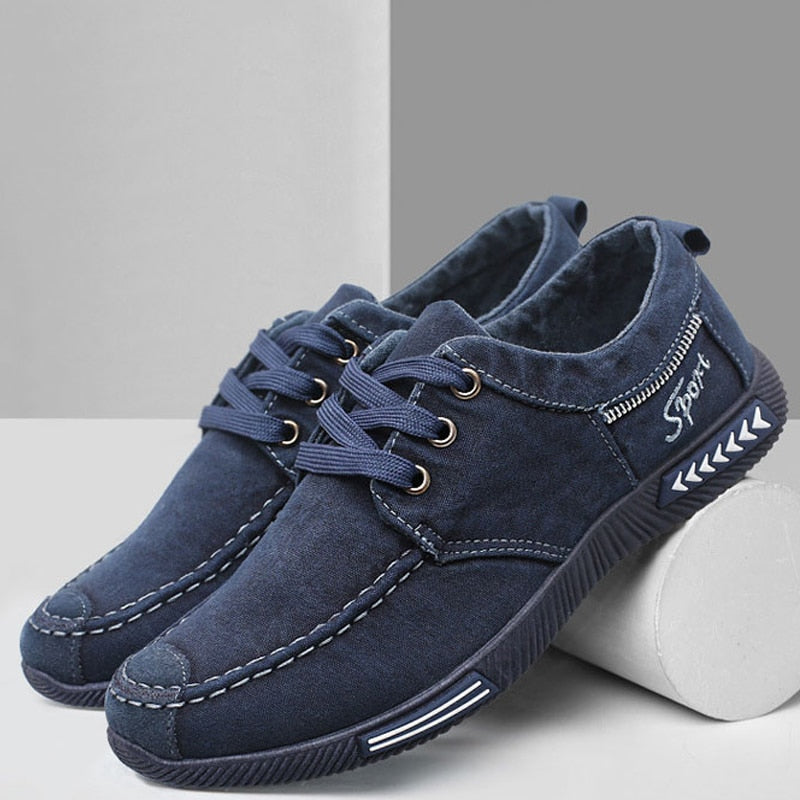 shoes men sneakers flat casual shoes 2020 summer denim canvas
