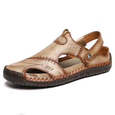 Summer Men Leather Sandals 2020 Slipper Outdoor - Current Trend Sales