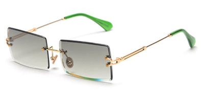Women  rectangle sunglasses rimless square - Current Trend Sales