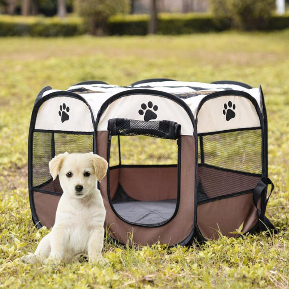 Portable Pet kennel Dog Tent Folding Doghouse Cage Cat Tent